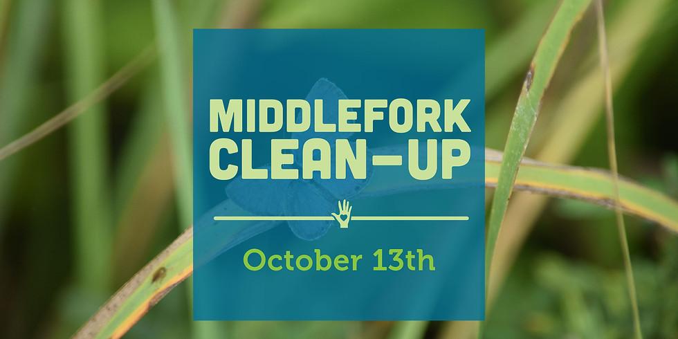 Middlefork Clean Up Volunteer Day