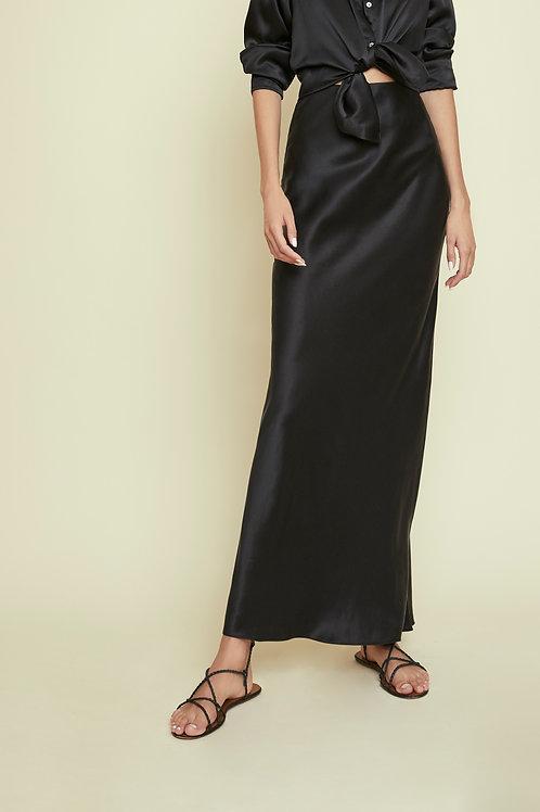 DAISY - Charcoal Maxi Skirt