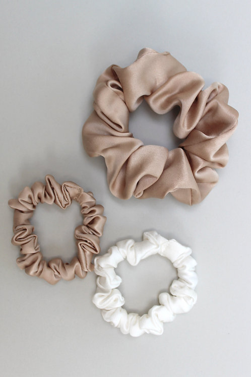 SET OF 3 MIXED SCRUNCHIES