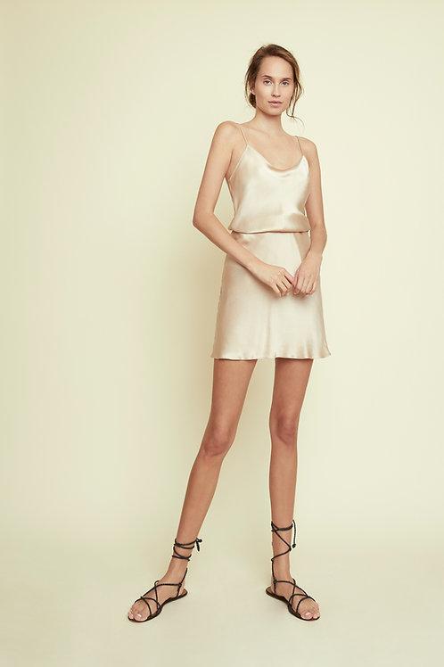 ELLIE - Almond Mini Skirt