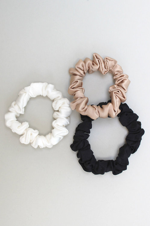 SET OF 3 SKINNY SCRUNCHIES