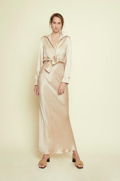 DAISY - Almond Maxi Skirt
