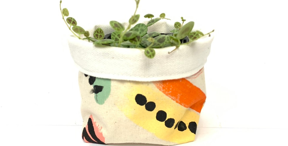 Hand-Painted Australian Craft Pot Cover - Small