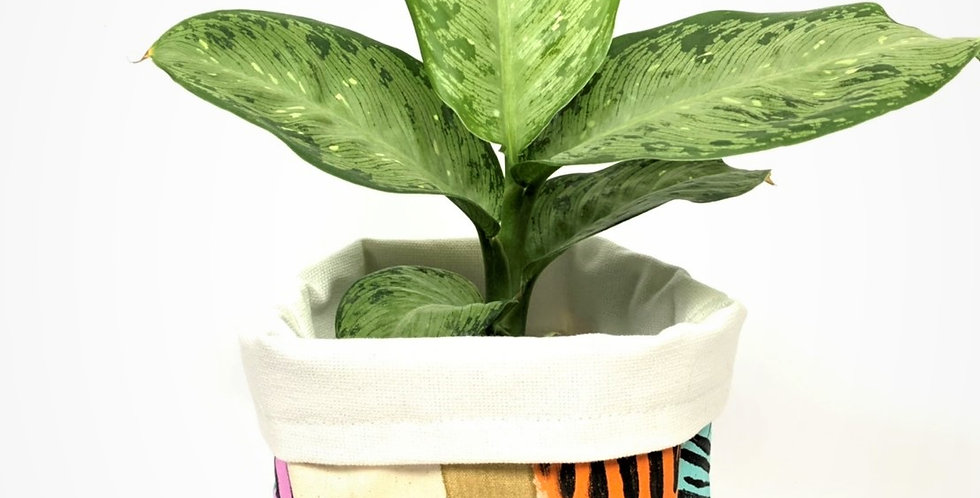 Hand-Painted Australian Craft Pot Cover - Medium