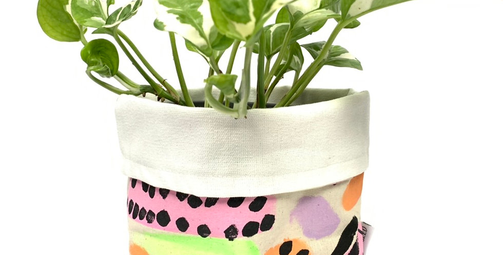 Hand-Painted Australian Craft Pot Cover - Large