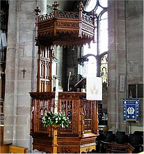 Pulpit, St. Mary's Church, Warwick