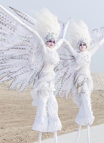 Jelicious Peace doves stilt act