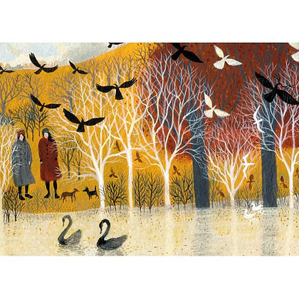 Rectangular Art Card:  Down by the Water by Dee Nickerson