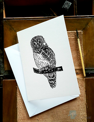 Rectangular Art Card: Tawny Owl by Deborah Vass