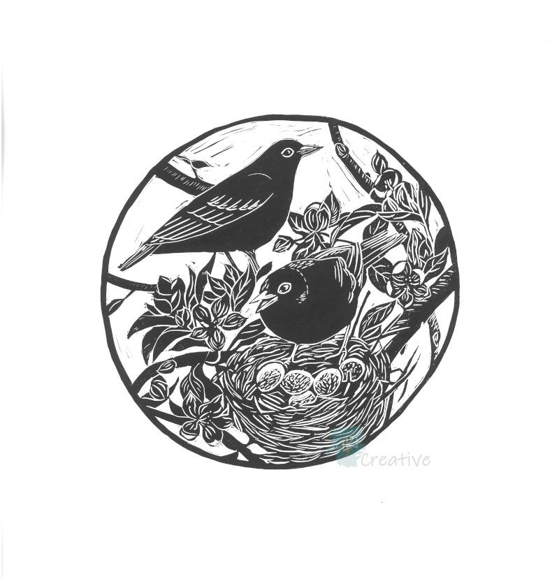 Spring Blackbird - Deborah Vass