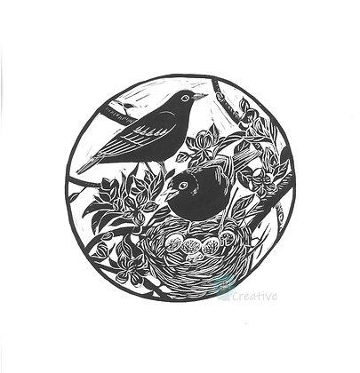 Square Art Card: Spring by Deborah Vass