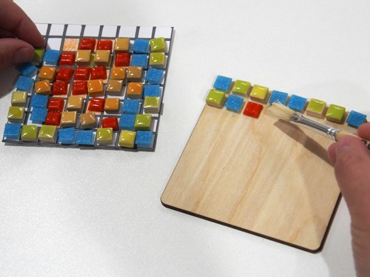 Mini Mosaics - Square Coaster Duo - Takeaway Taster