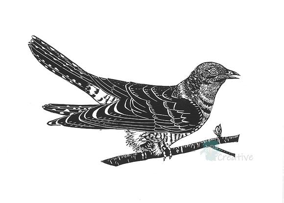 Rectangular Art Card: Cuckoo by Deborah Vass
