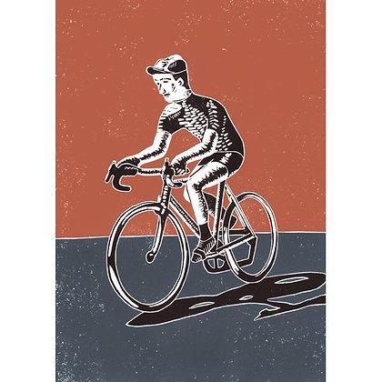 Rectangular Art Card: Racer by James Green