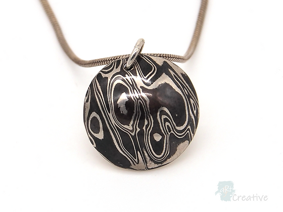 Silver Pendant Domed - Helen Smith