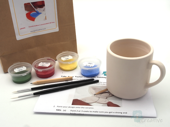 Takeaway Taster - Ceramic Painting - Mug (Straight Sided)