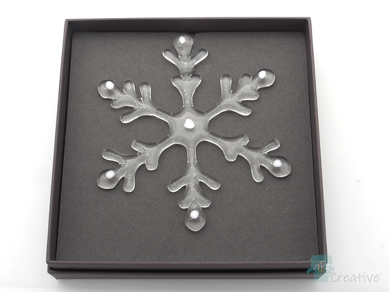 Fused Glass Snowflake Hanger  (Large) - Louise Ferrier