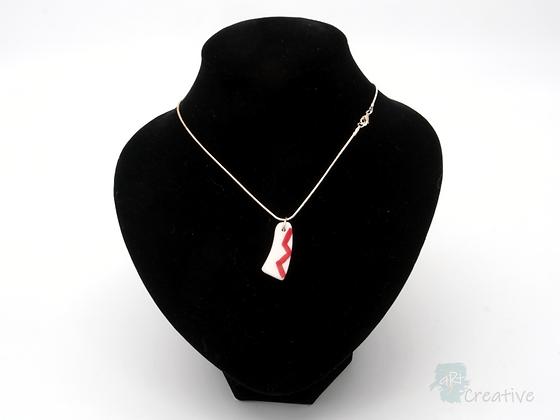 Translucent Ceramic Pendant Necklace: Parian