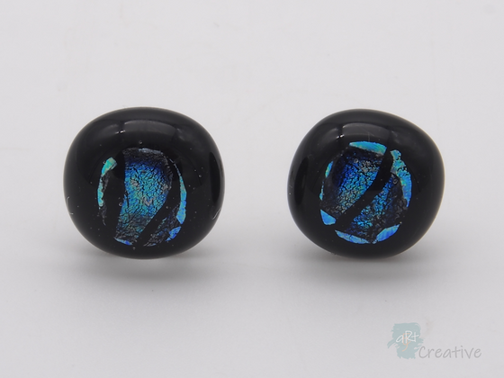 Dichroic Glass 'Dots' Stud Earrings  - Louise Ferrier