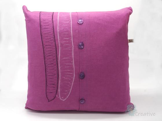 Linen Cushion (Linear Pod - Pink) - Danielle Wade