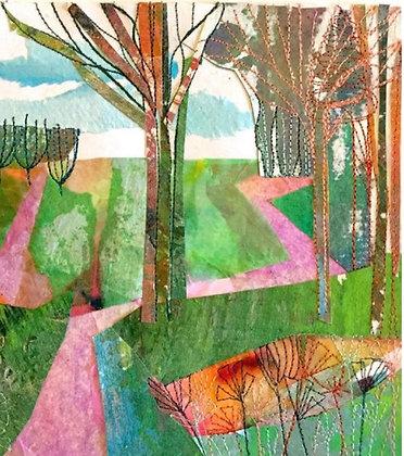 Pink Path - Dot Ronaldson  (Framed)