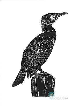 Rectangular Art Card: Cormorant by Deborah Vass
