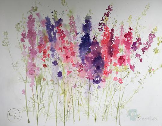 Larkspur - Helen Clarke (canvas)