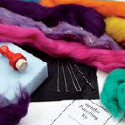 Felt Making: Needle Felting Set (with colour choice)