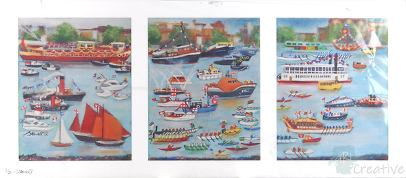 Jubilee Regatta - Briony Howell (mounted print)