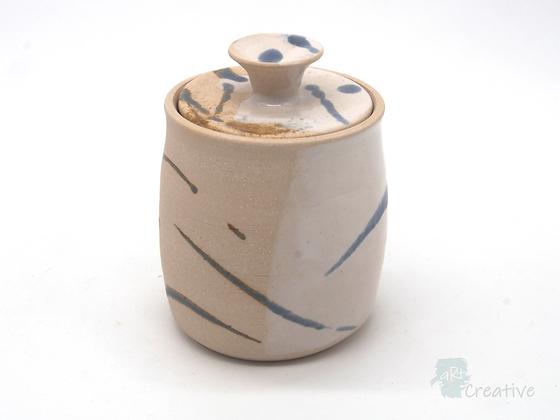 Small Jar with Lid 'Sea Beach' - Sue Bowerman