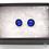 Thumbnail: Dichroic Glass Round Stud Earrings 'Blue Sparkle'- Louise Ferrier