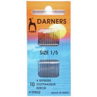 Hand Sewing Needles: Darners (Gold Eye) - Pony