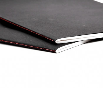 Hand Stitched Soft Cover Sketchbook in Black