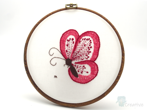 Hand Embroidery - Butterfly #003  - Takeaway Taster by TammiR