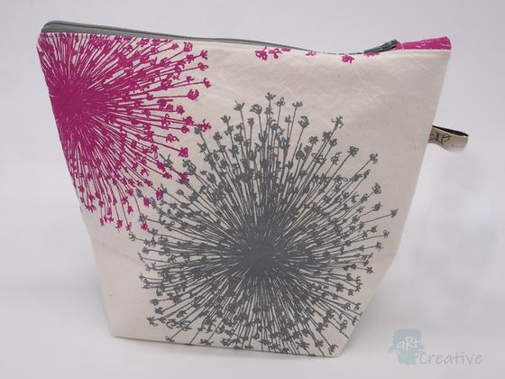 Large Washbag (Starburst - Pink/Grey) - Danielle Wade