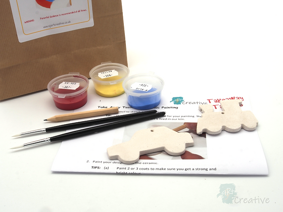 Takeaway Taster - Ceramic Painting - Transport Duo
