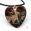 Thumbnail: Necklace: Enamelled Cloisonne Heart Pendant - Toni Peers