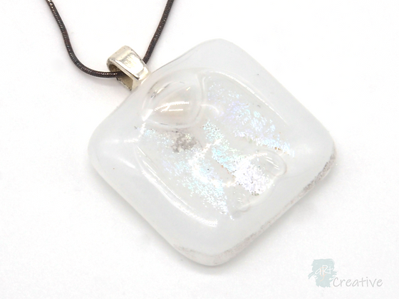 Dichroic Glass Pendant White - Louise Ferrier