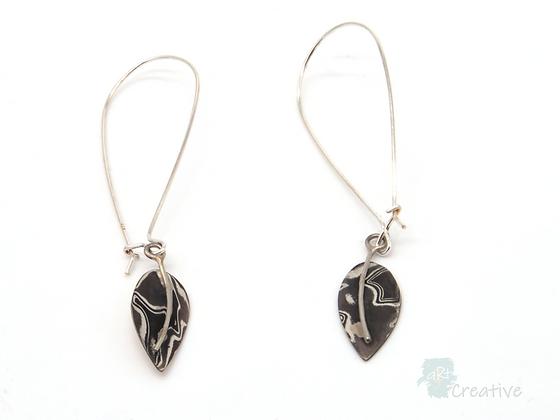 Silver Leaf Earrings - Helen Smith