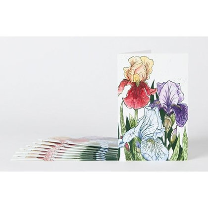 Note Cards x 8: Irises  by James Green