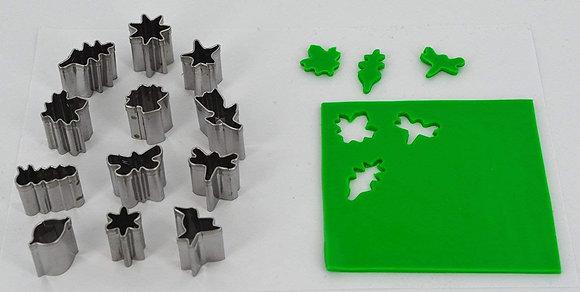 Cutters: Mini Shape Metal Cutters - Set 2 - Nature