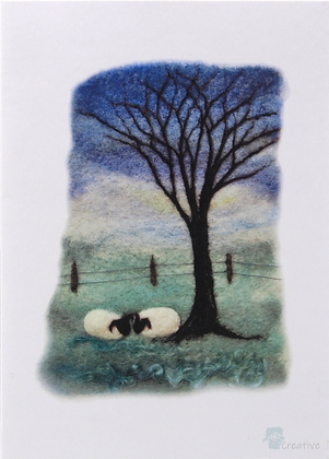 Art Cards: Prints of Needle Felting - by Annie Brown