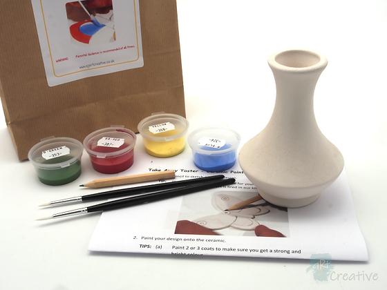 Takeaway Taster - Ceramic Painting - Vase (Wide Based)