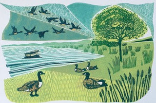 Migrating Geese- Helen Maxfield (Mounted)