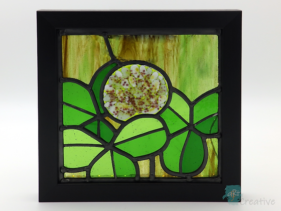 Clover - Stained Glass in Frame - Louise Ferrier
