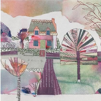 Pink Cottage - Dot Ronaldson  (Framed)