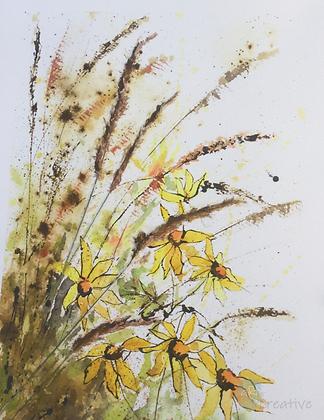 Summer Breeze - Caroline Furlong (mounted)