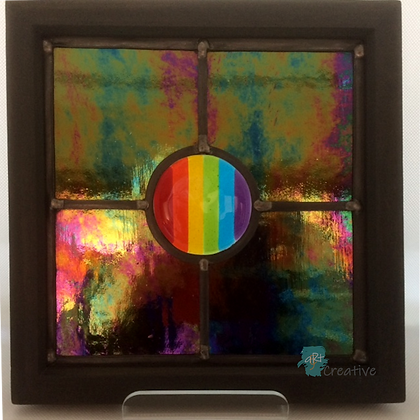 'Irridescence' Stained Glass Panel - Louise Ferrier