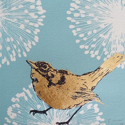 Square Art Card: Nightingale' by Claire Cockayne