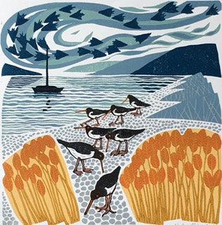 Oystercatchers - Helen Maxfield (Mounted)